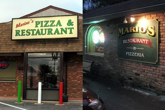 Marino's and Mario's exteriors