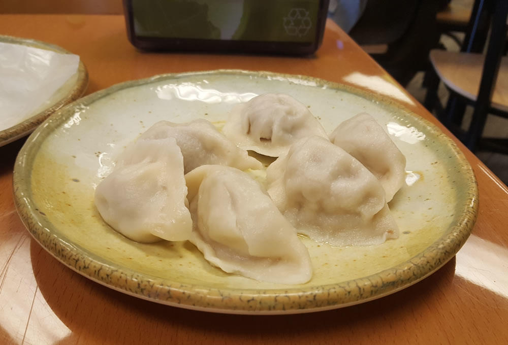 Tea Plus lamb dumplings