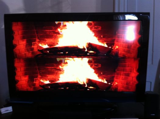 Time Warner Yule Log in 3D
