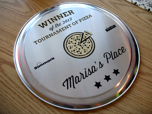 Tournament of Pizza 2012 trophy