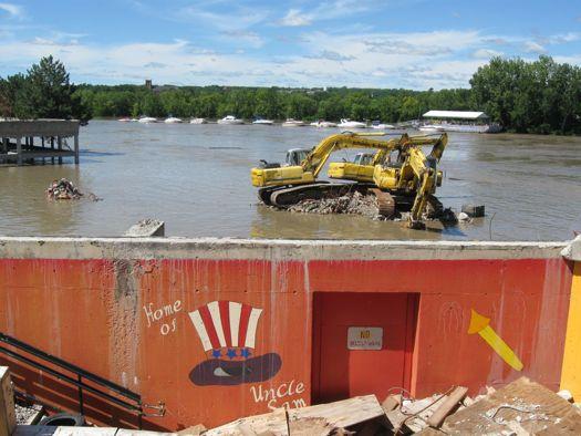 Troy Demoliton equipment in flood.jpg