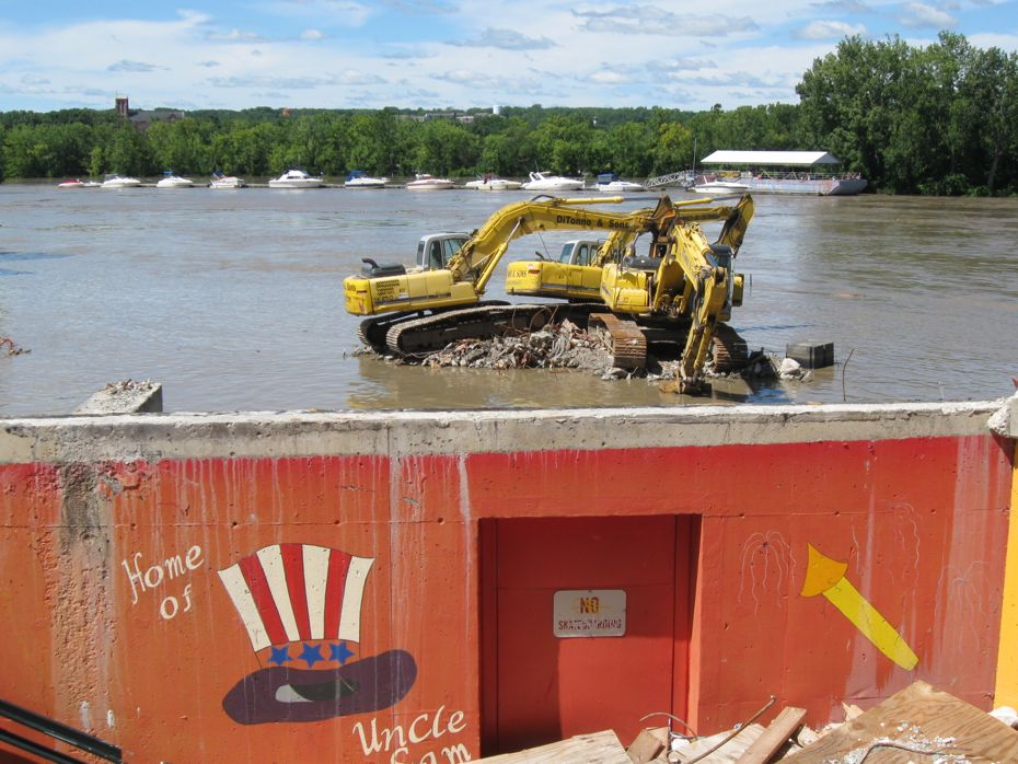irene_flooding_troy demolition equipment