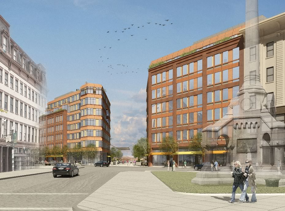 troy city center rendering monument square