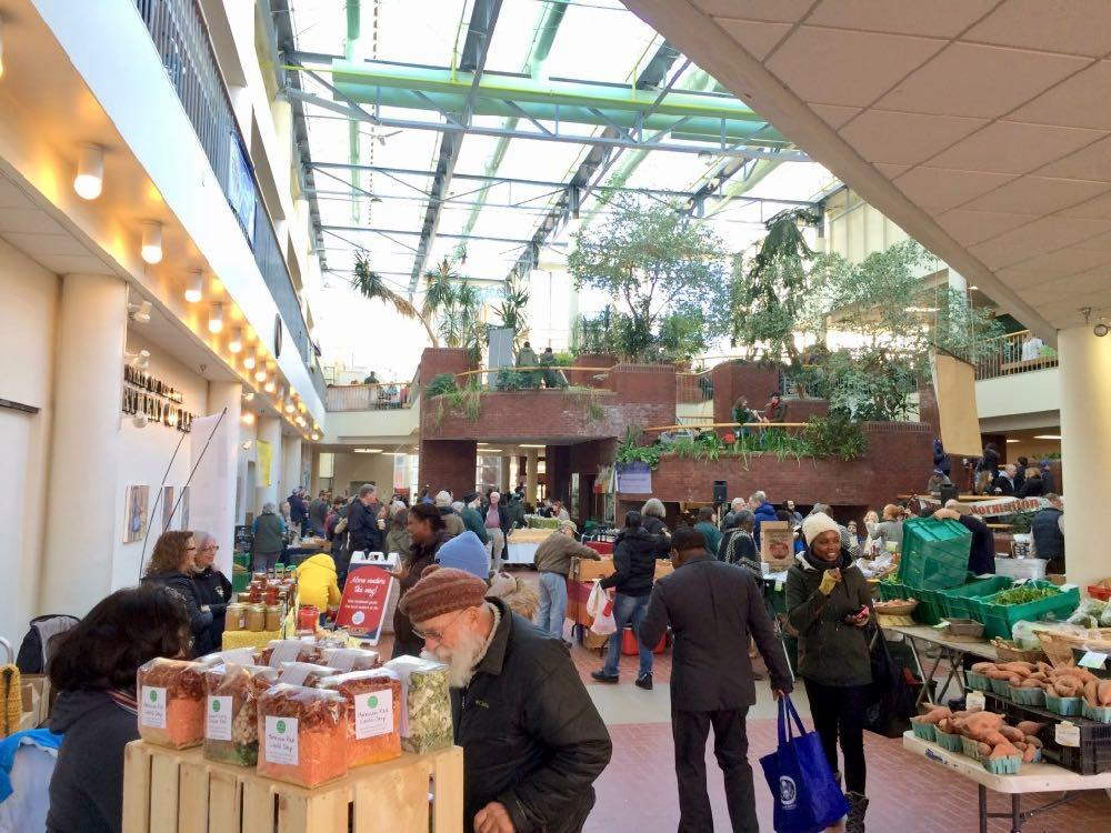 Troy farmers market in Atrium