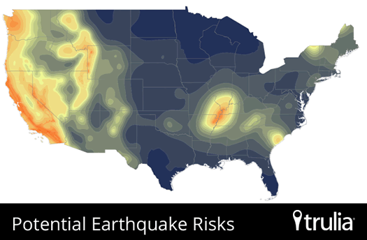 Trulia National Earthquake risk Map