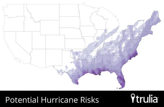 Trulia National Hurricane risk Map