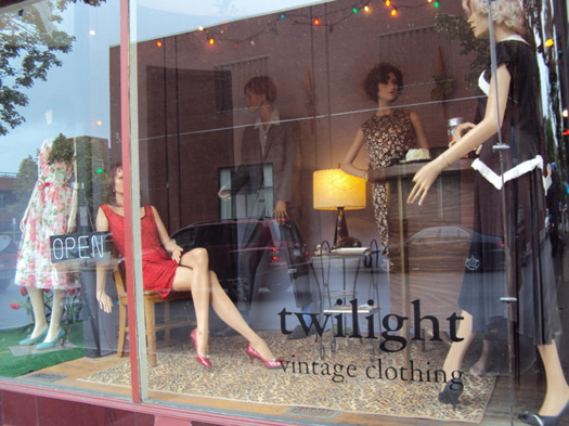 Twilight Vintage window