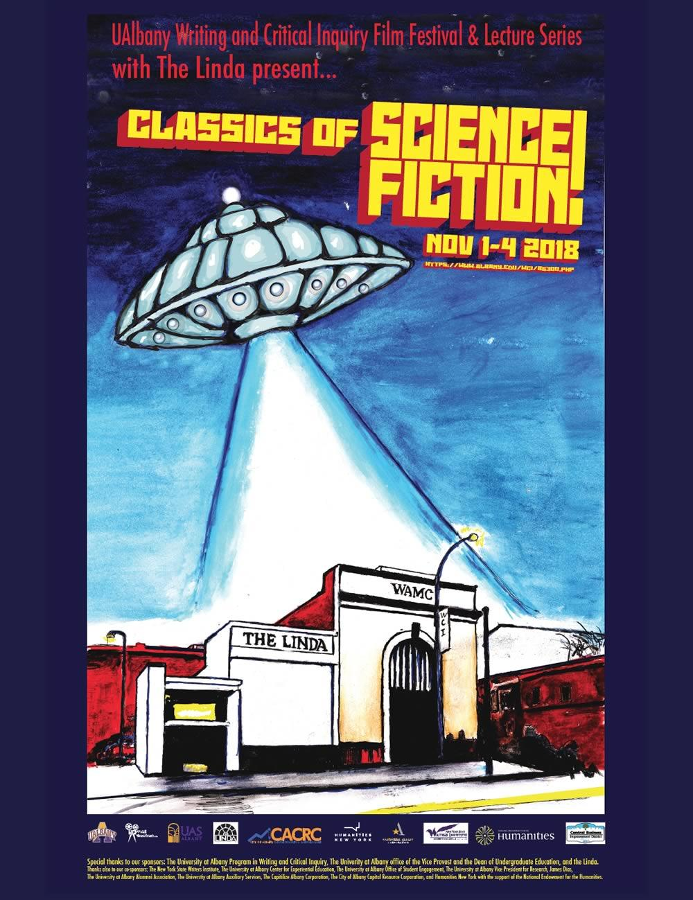 UAlbany 2018 Classics of Science Fiction poster