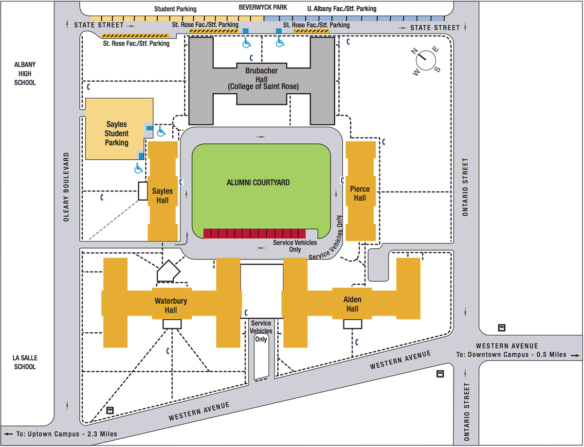 UAlbany Alumni Quad map