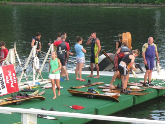 US waterski show practice on the dock.jpg