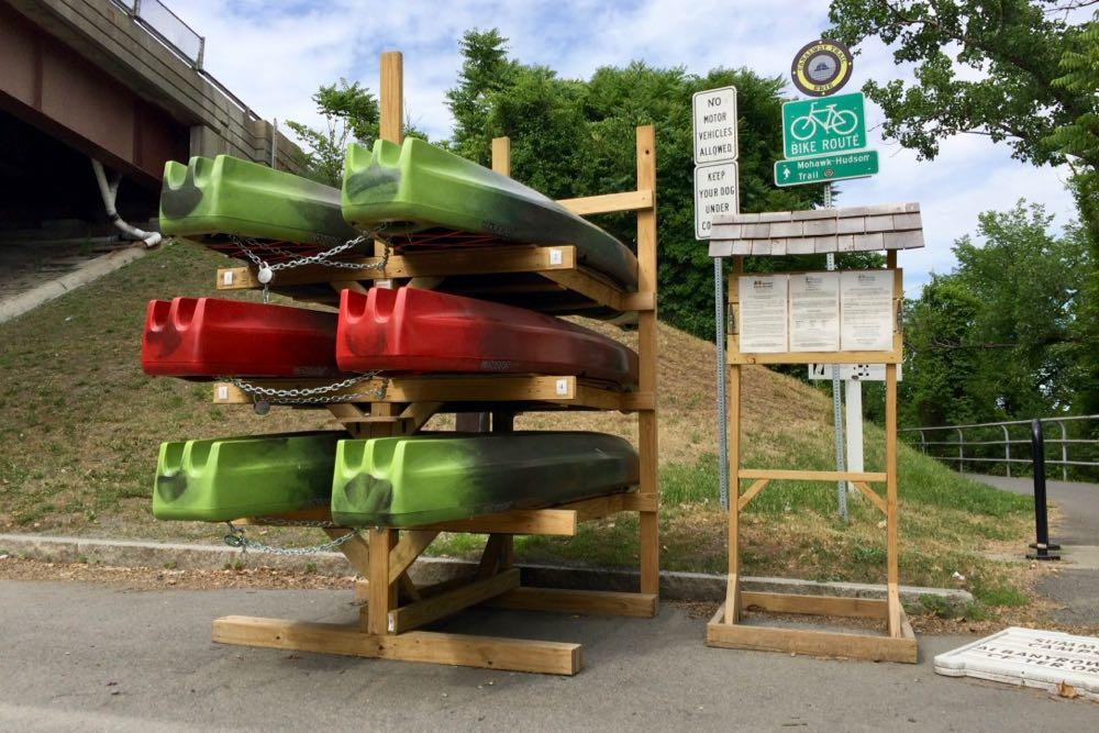 Upstate Kayak Rentals hub Corning Riverfront Park 2018-June