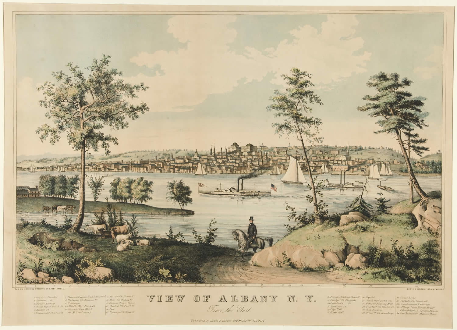 View of Albany from the East 1845 Edwin Whitefiled