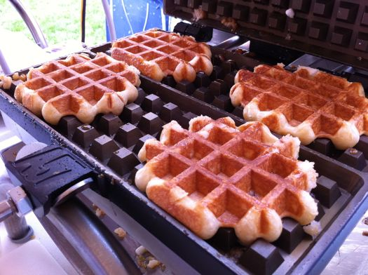 Waffles on iron