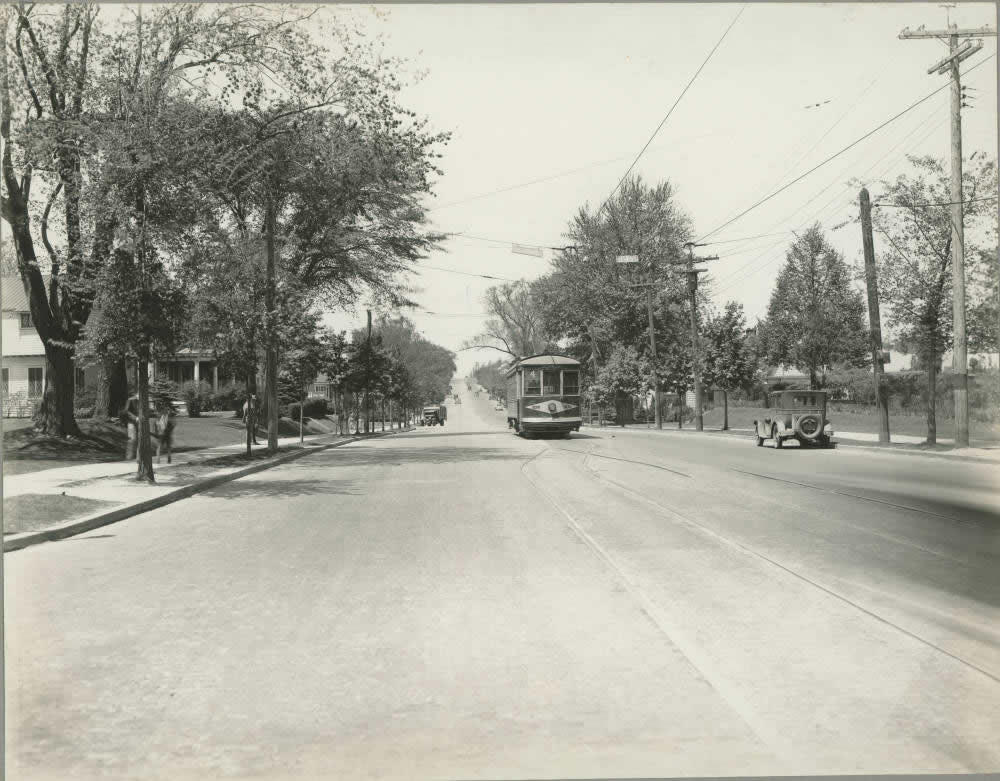 Western Ave streetcar maybe 1920s