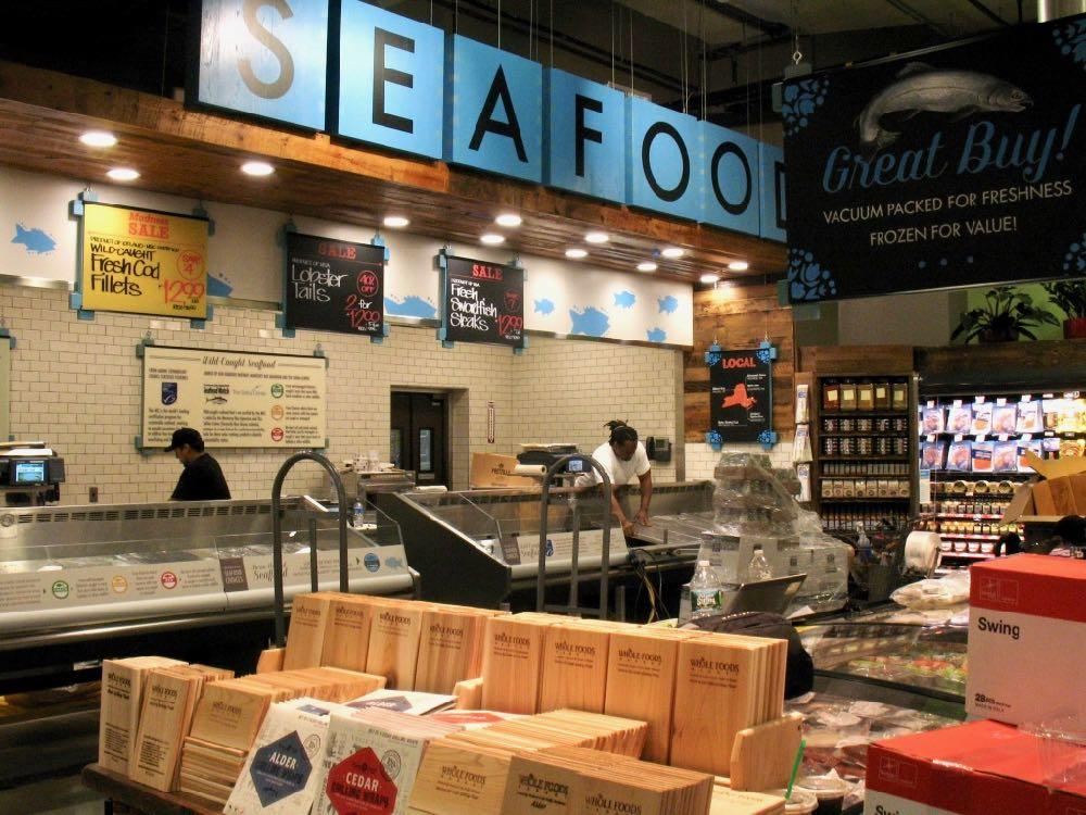 Whole Foods seafood counter