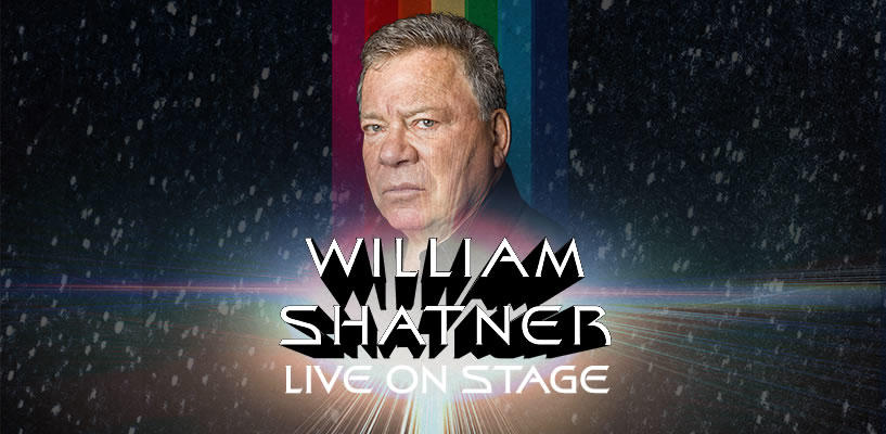 William Shatner on stage promo image