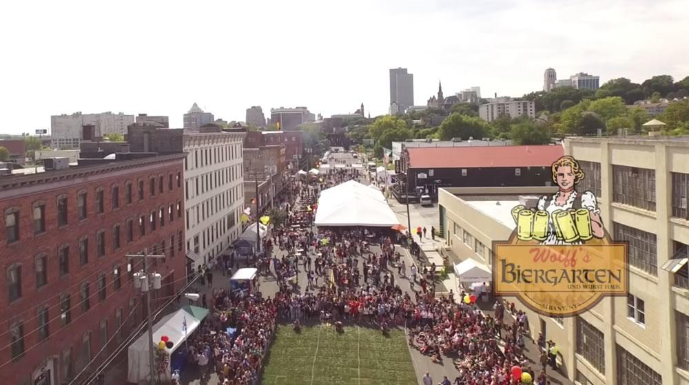 Wolffs Oktoberfest promo video aerial screengrab