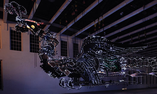 Xu Bing Phoenix night MASS MoCA
