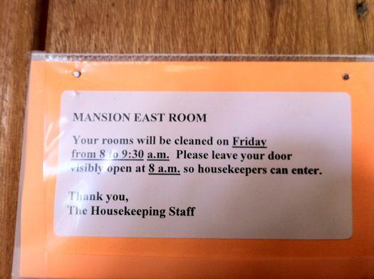 Yaddo room cleaning notice.jpg