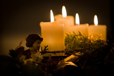 advent wreath angel
