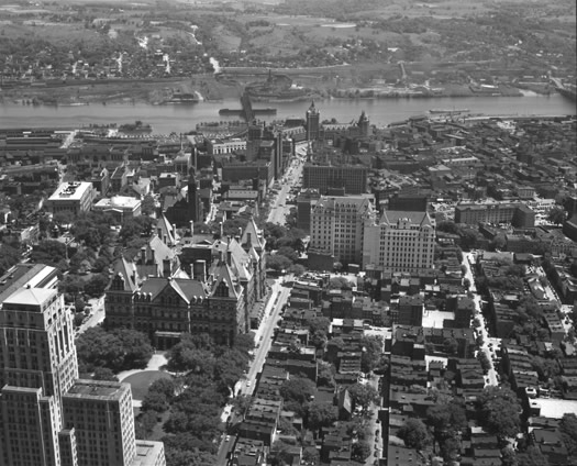 aerial photo albany 1948 before ESP