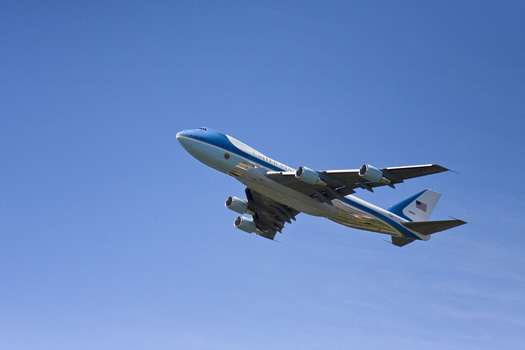 air force one in flight