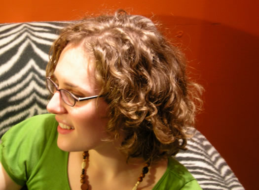 Katherine's curly hair