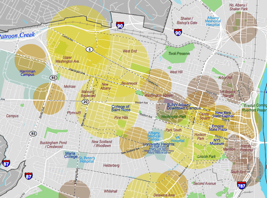 albany 2030 food access map