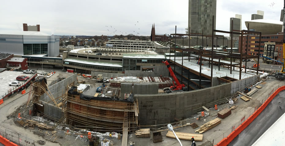albany convention center construction 2016-02-12