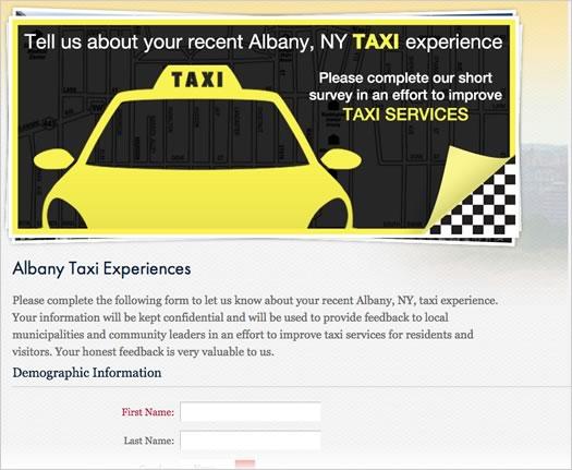 albany cvb taxi service survey