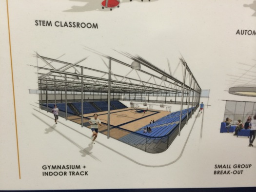 albany high school plan indoor track