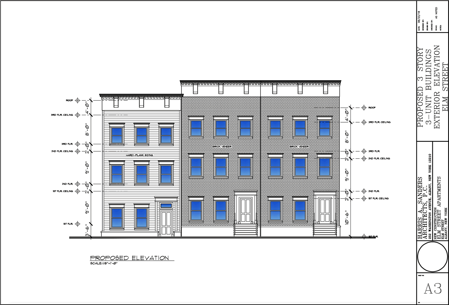 albany planning board 2018-September 185 Elm elevation