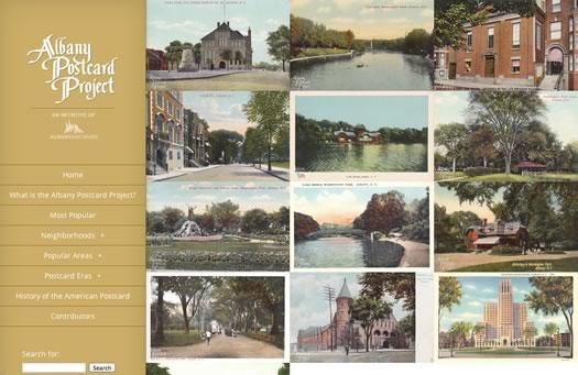 albany postcard project screengrab