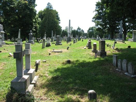 Albany Rural Cemetery gravestones
