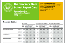 albany school report card thumbnail