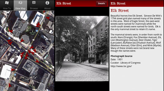 albany: then and now app android screenshots tim varney