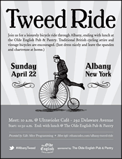 albany tweed ride flyer