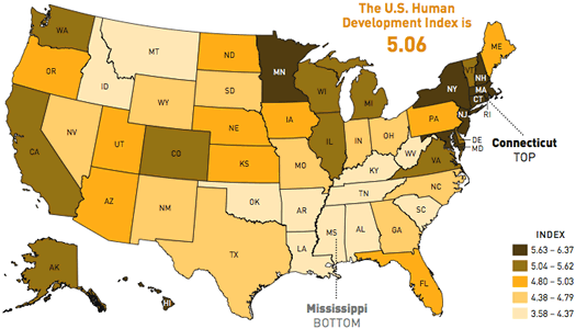 american human development map