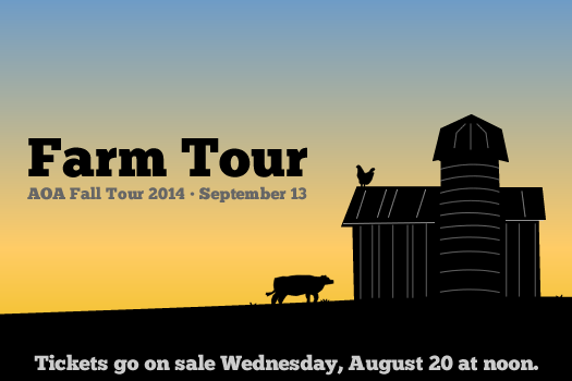aoa farm tour 2014 logo announce