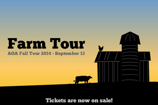aoa farm tour 2014 logo tickets on sale