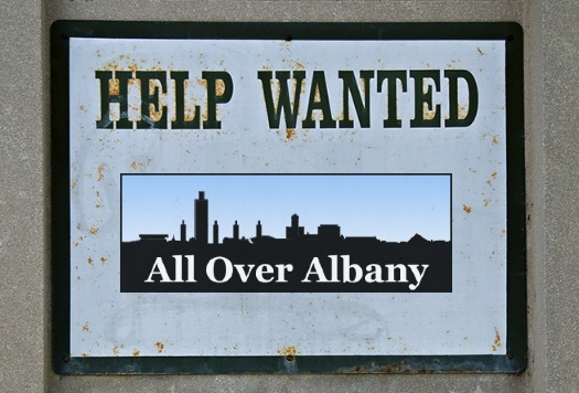 AOA help wanted sign