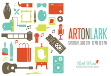 art on lark 2012 poster card