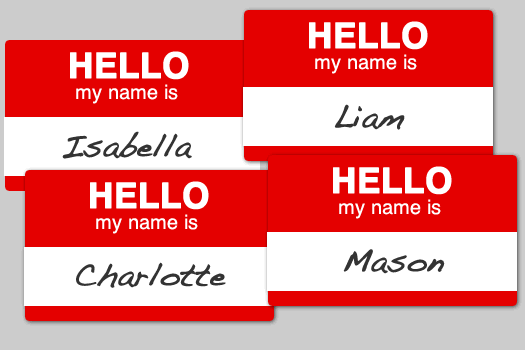 baby name tags