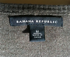 banana republic label