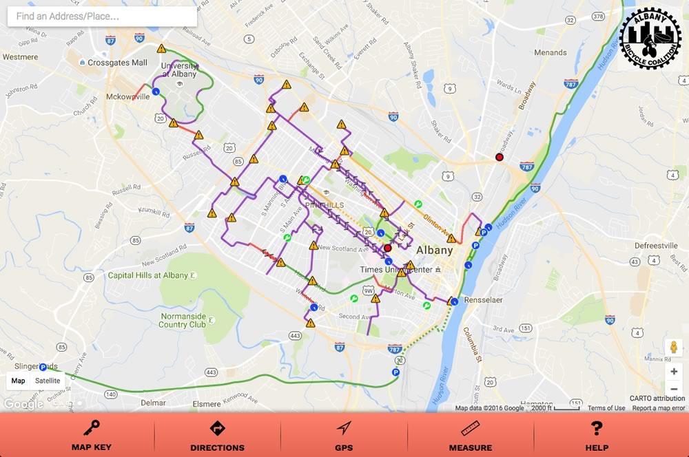 Bike Albany Map  All Over Albany