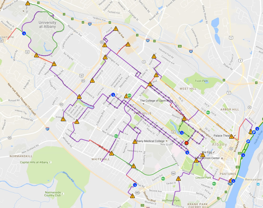 Bikefriendly Albany Map Nearing Finish Line  All Over Albany
