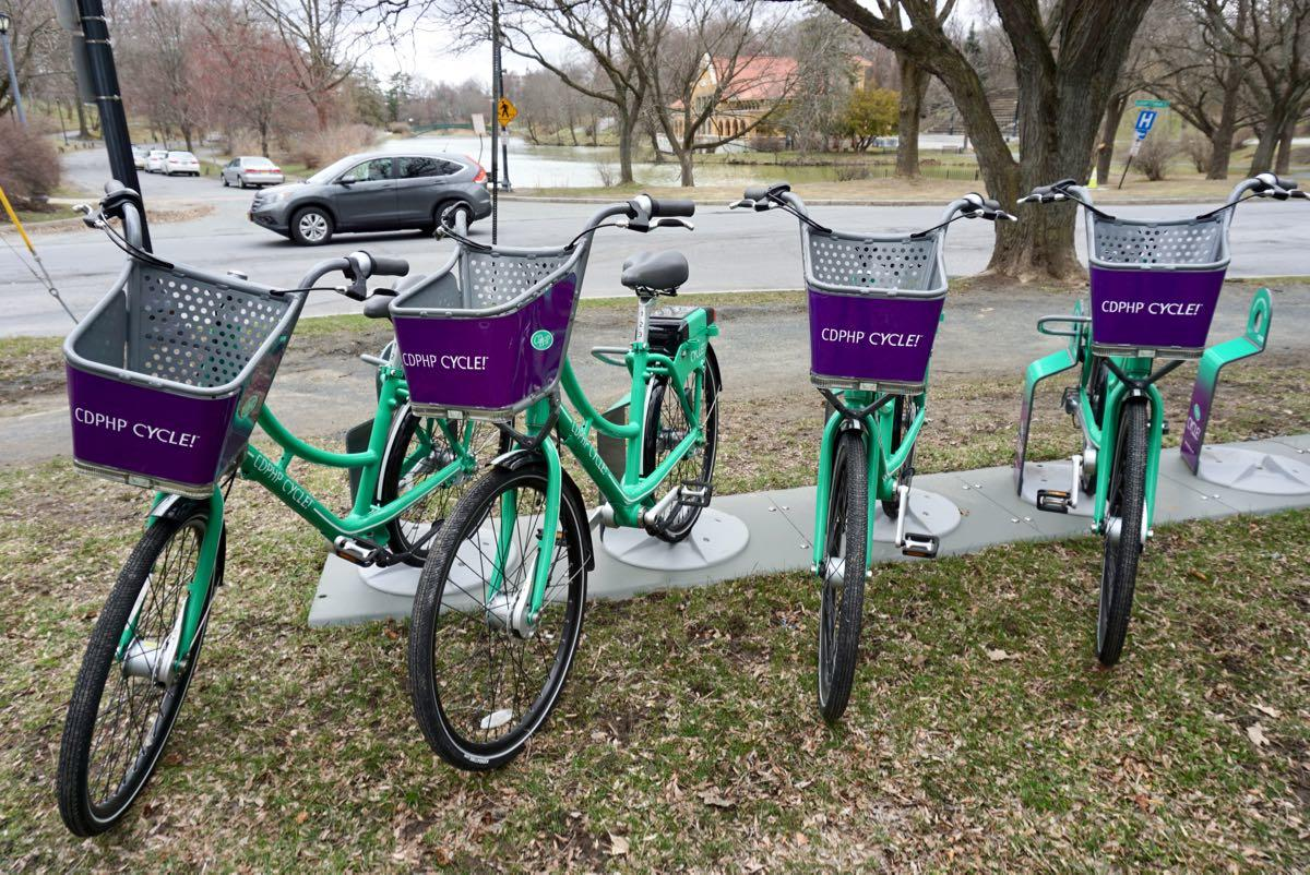 bike share rack Washington Park 2018-04-18