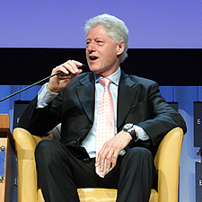 bill clinton at world economic forum 2006 davos