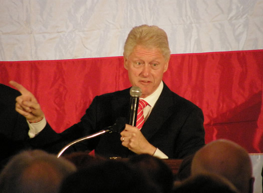 bill clinton saratoga