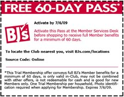 Bjs trial membership